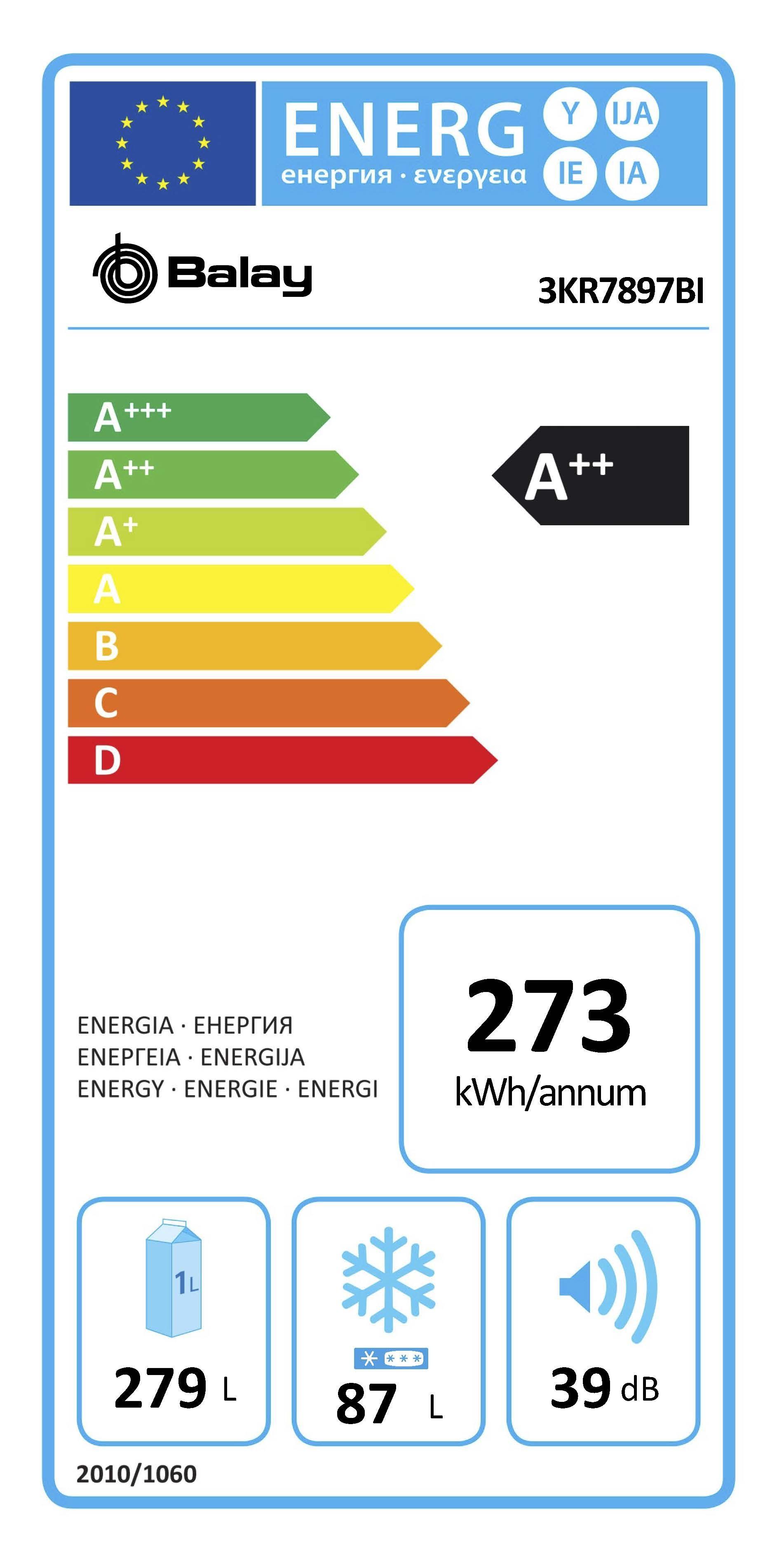 Etiqueta de Eficiencia Energética - 3KR7897BI