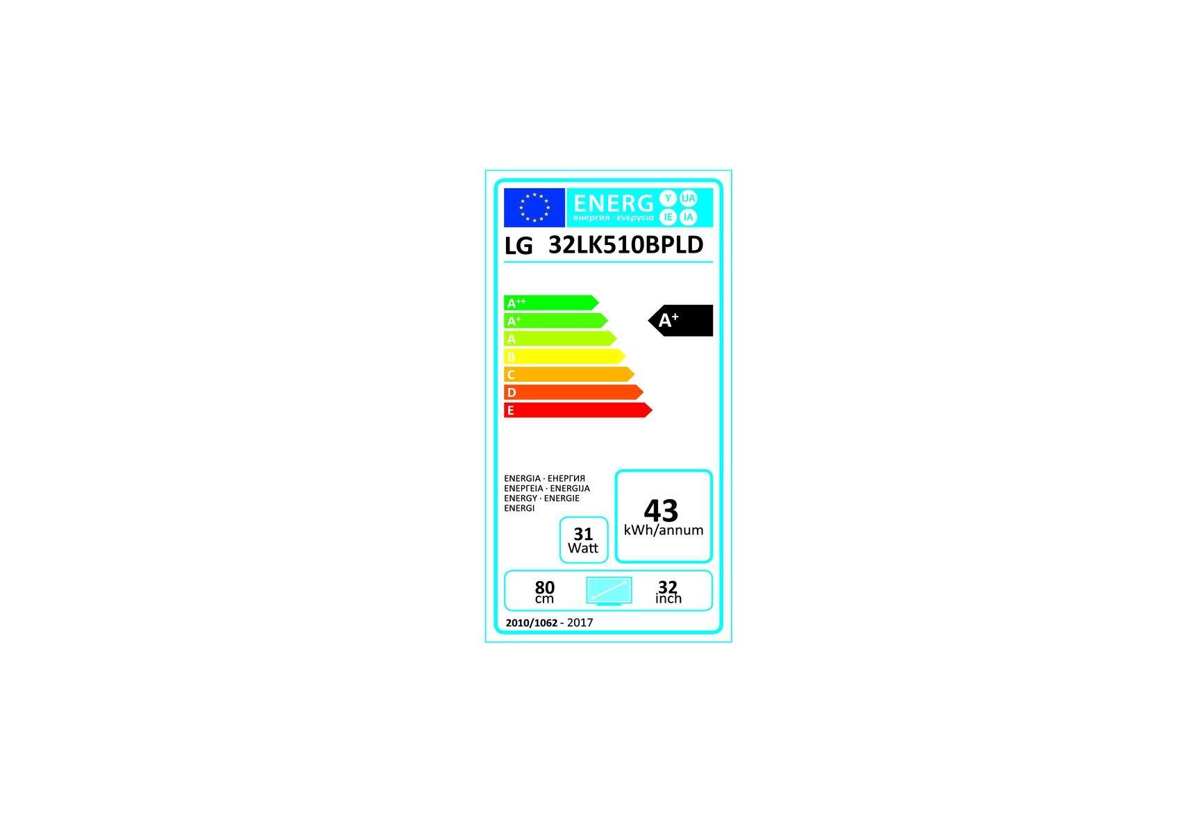 Etiqueta de Eficiencia Energética - 32LK510B