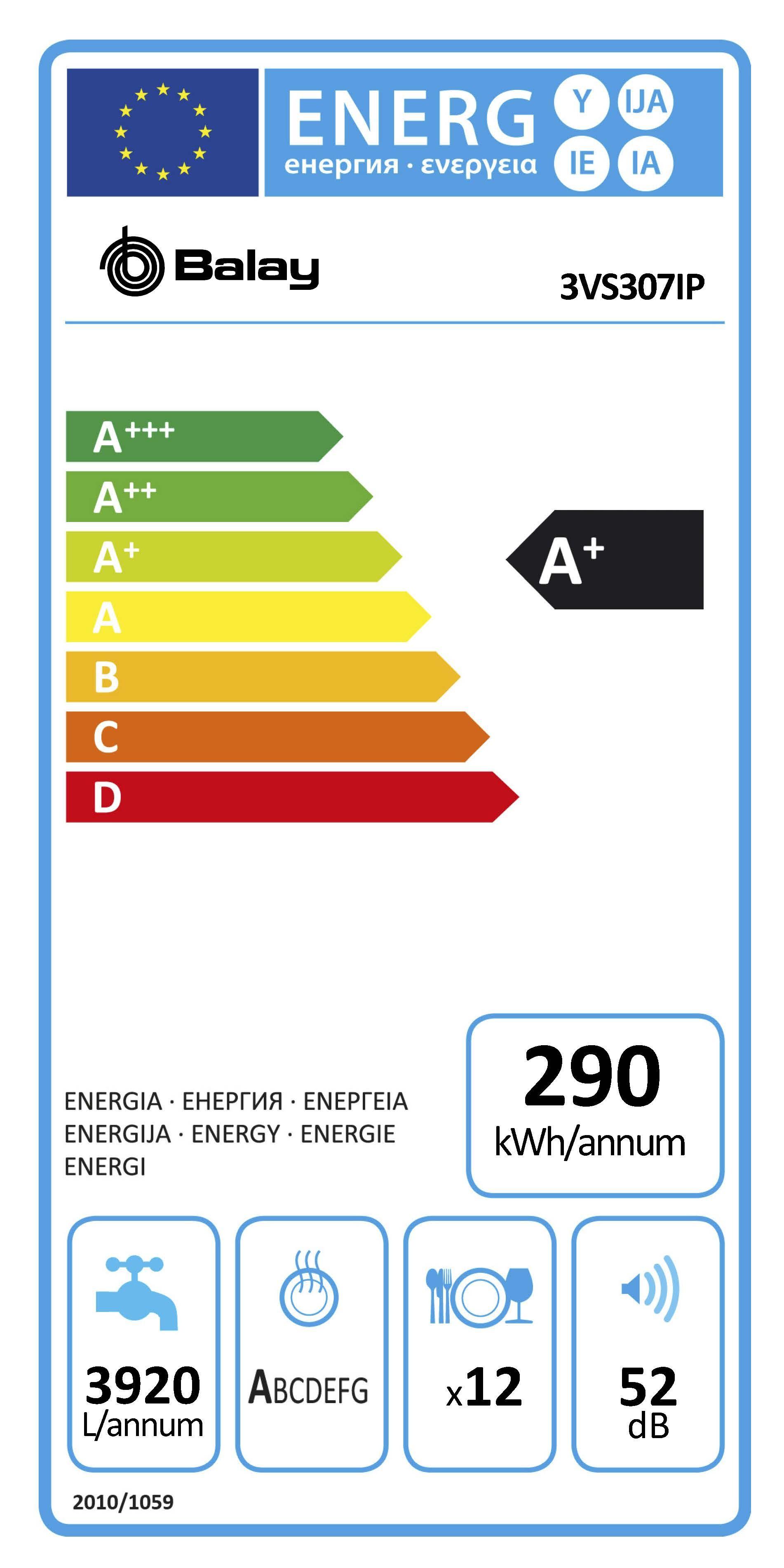 Etiqueta de Eficiencia Energética - 3VS307IP