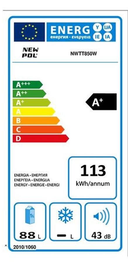 Etiqueta de Eficiencia Energética - NWTT850W